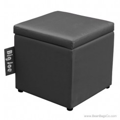 "Big Joe 15"" Square Ottoman Bean Bag Chair - Stretch Limo Black"