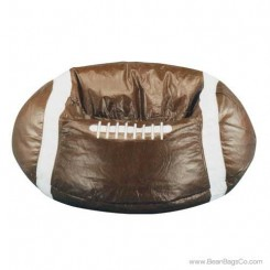 Junior Vinyl Pure Bead Sports Bean Bag Chair - Football