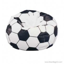 Junior Vinyl Pure Bead Sports Bean Bag Chair - Soccer Ball