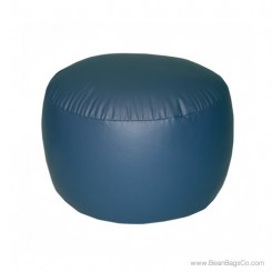 Lifestyle Bigfoot Footstool Mixed Bead Bean Bag - PVC Vinyl Navy Blue