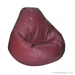 Lifestyle Pure Bead Bean Bag Chair - PVC Vinyl Burgundy