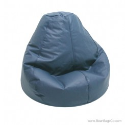 Lifestyle Pure Bead Bean Bag Chair - PVC Vinyl Cobalt Blue
