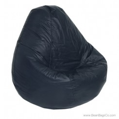 Lifestyle Pure Bead Bean Bag Chair - PVC Vinyl Navy Blue