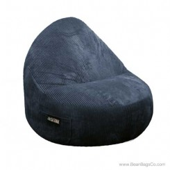 2- Seater Sitsational Bean Bag Chair- Deluxe Cord Midnight Lounger