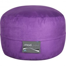 4- Foot Single Seater Mod Pod Bean Bag Chair- Soft Suede Purple Lounger