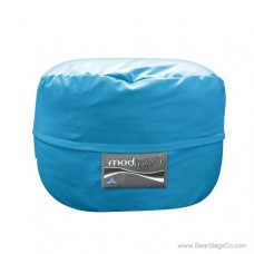 4- Foot Single Seater Mod Pod Bean Bag Chair- Poly Cotton Aqua Lounger