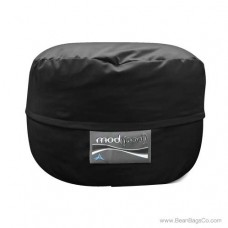 4- Foot Single Seater Mod Pod Bean Bag Chair- Poly Cotton Black Lounger