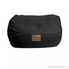 6- Foot Microsuede Bean Bag Chair - Mod Pod Classic Black Lounger