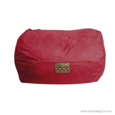 6- Foot Microsuede Bean Bag Chair - Mod Pod Classic Lipstick Red Lounger