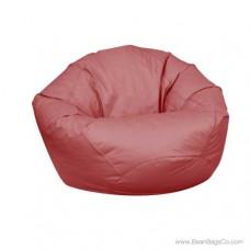 Small Classic Bean Bag Chair - PVC Vinyl Burgundy