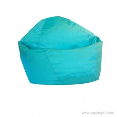 Small Classic Bean Bag Chair - PVC Vinyl Turquoise