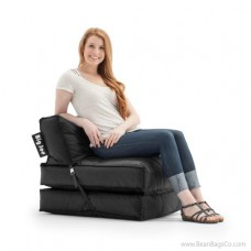 Big Joe Flip Bean Bag Chair - SmartMax Stretch Limo Black Lounger