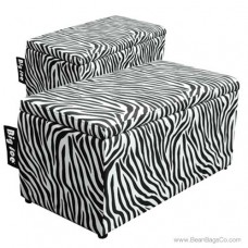 Big Joe 2 in 1  Bean Bag Chair Bench Ottoman - Zebra Print