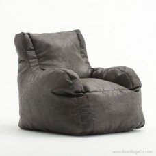 Big Joe Lusso Bean Bag Chair - Steel Faux Leather