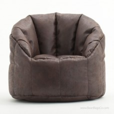 Big Joe Milano Bean Bag Chair - Sable Faux Leather