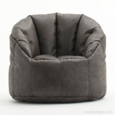 Big Joe Milano Bean Bag Chair - Steel Faux Leather