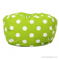 Classic Bean Bag Chair - Chartreuse w/ White Dots