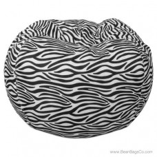 Classic Bean Bag Chair - Zebra Print