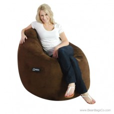 Soft Suede Omega Bean Bag Chair - Chocolate Lounger