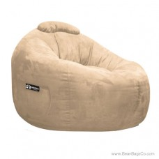 Soft Suede Omega Bean Bag Chair - Fawn Lounger