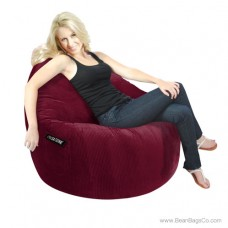 1- Seater Sitsational Bean Bag Chair- Deluxe Cord Berry Lounger