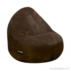 1- Seater Sitsational Bean Bag Chair - Deluxe Cord Chocolate Brown  Lounger