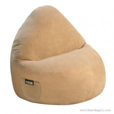 1- Seater Sitsational Lounger- Soft Suede Light Brown Bean Bag Chair