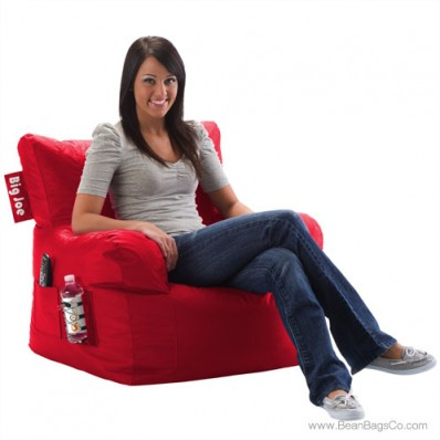 Big Joe Dorm Chair - Flaming Red