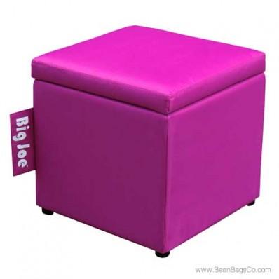 "Big Joe 15"" Square Ottoman Bean Bag Chair - Pink Passion"