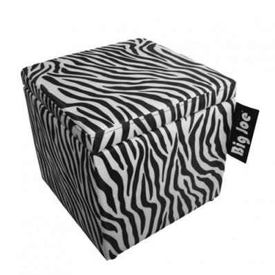 "Big Joe 15"" Square Ottoman Bean Bag Chair - Zebra Print"