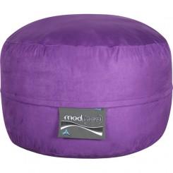 3- Foot Junior Mod Pod Bean Bag Chair- Purple Soft Suede Poly Cotton Lounger