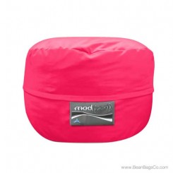 4- Foot Single Seater Mod Pod Bean Bag Chair- Poly Cotton Hot Pink Lounger