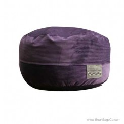 5- Foot Mod Pod Classic Bean Bag Chair - Deluxe Cord Dark Purple Lounger