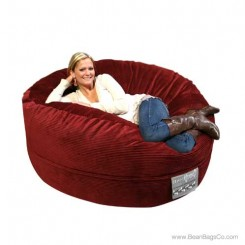 5- Foot Mod Pod Classic Bean Bag Chair - Deluxe Cord Lounger