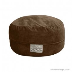 5- Foot Mod Pod Classic Bean Bag Chair - Deluxe Cord Chocolate Lounger