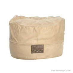 5- Foot Mod Pod Classic Bean Bag Chair- Soft Suede Light Brown Lounger