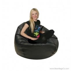 Jumbo Classic PVC Vinyl Bean Bag Chair - Black