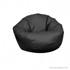 Large Classic Bean Bag Chair - PVC Vinyl Black