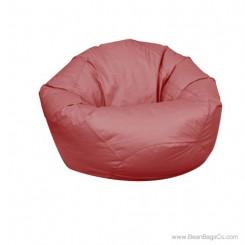 Large Classic Bean Bag Chair - PVC Vinyl Burgundy