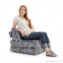 Big Joe Flip Bean Bag Chair - SmartMax Zebra Lounger