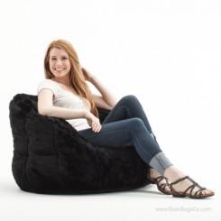 Big Joe Milano Bean Bag Chair - Black Fur