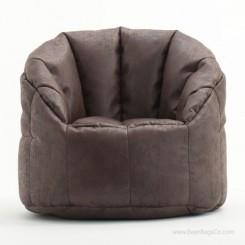 Big Joe Milano Bean Bag Chair - Sable Faux Leather