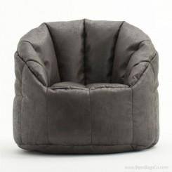 Big Joe Milano Bean Bag Chair - Steel Faux Leather