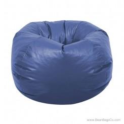 Classic Vinyl Bean Bag Chair - Royal Blue