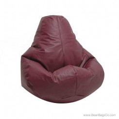 Lifestyle Extra Large Pure Bead Bean Bag Chair - Burgundy