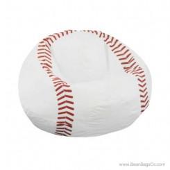 Junior Vinyl Pure Bead Sports Bean Bag Chair - Baseball