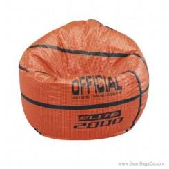 Junior Vinyl Pure Bead Sports Bean Bag Chair - Basketball