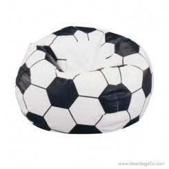 Junior Vinyl Pure Bead Sports Bean Bag Chair - Soccer Ball