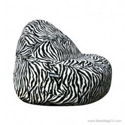 2- Seater Sitsational Bean Bag Chair- Zebra Animal Print Lounger