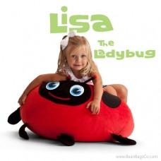 Bean Bagimals Bean Bag Chair - Lisa the Ladybug